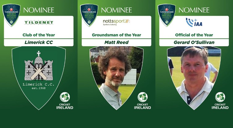 3 Munster nominations in Cricket Ireland Awards