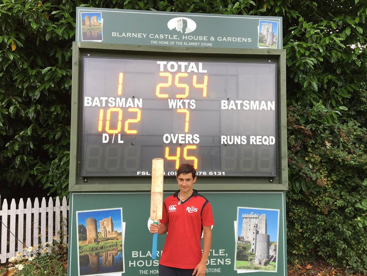 Alam century guides Munster to victory over Leinster U15